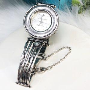 Silpada Accessories - Silpada 925 Hammered Pearl Flower Watch T1315